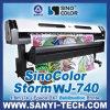 Sublimazione Textile Printer Sinocolor Wj740 con Epson Dx7 Head per Textile Printing (1.8M&1440dpi)