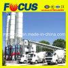 Planta de mezcla concreta completamente automática, planta de procesamiento por lotes por lotes concreta de la correa Hzs90