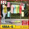 o gancho de roupa da produção da grande escala 188A-S, único Pólo veste a cremalheira, cremalheira eficiente do secador da roupa