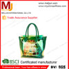 Хозяйственная сумка PVC Beach OEM Factory Green Transparent с Satin Pouch Inside, PVC Large Size Beach Set для Two