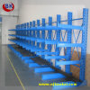 Single azul Side Cantilever Rack para Warehouse Longo-Item Storage