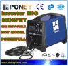 Macchina della saldatura a gas del Mosfet MIG/Mag Gas/No dell'invertitore di CC (MIG-180)