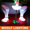 LED 빛을내는 알루미늄 대 앙티크 바 테이블