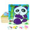 Panda van het Speelgoed van het Raadsel van het Frame van het Beeldverhaal DIY Chindlren van de fabriek de Directe Hete 3D Houten Onderwijs
