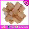 Kong Ming Lock Puzzle Wooden Toy para Kids, Wooden Lock Educational Puzzle Toy Skyscrape para Children, Wooden Lock Toy W03b025