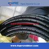 Tuyau en caoutchouc hydraulique tressé de fil d'acier de SAE 100r17