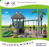 A corrediça e o balanço pré-históricos pequenos da série de Kaiqi ajustaram-se para o campo de jogos das crianças (KQ30009A)