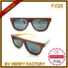 &BV de madeira barato Auduted Eyewear dos óculos de sol de Fx28 Handemade