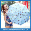 Bear Allover Printing Promotion Gift Sun y Rain Weather Compact Folding Umbrella Flower Shape Parasol