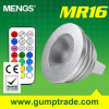 Mengs® MR16 4W RGB Dimmable LED Bulb met Ce RoHS SMD, 2 Warranty van Years, 16 Colour, de Afstandsbediening van IRL (110180015)
