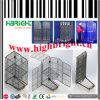 Foldable金属線の網格子によって動かされる転送パレットケージ