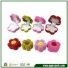 Caja de regalo de congregación colorida de la joyería de la forma de la flor de la impresión