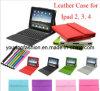 De Dekking van het leer voor iPad 2, 3, 4, Mini met Toetsenbord, voor iPadDekking, Korting voor iPadGeval