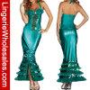 V-Шеи Halter Halloween женщин Costume Mermaid безрукавный сексуальный для платья партии