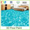 Pintura líquida inodora del suelo del epóxido 3D de la resina