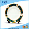 Green Rim Color Blank 8 '' Ceramic Plate for Sublimation