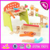 2015 novidade Design e Multi-Function Wooden Tool Toy, Wooden Toy Mechanic Toolbox Set, DIY Toy Kids Wooden Toolbox Set W03D045