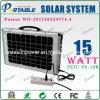 Sistema de iluminación solar para Notebook/TV (PETC-FD-15W)