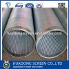 Acier inoxydable Eau Eclaircissant Tuyau / Johnson Wedge Wire Screen