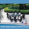 خارجيّة [رتّن] [ويكر] حديقة فناء ثبت أثاث لازم يتعشّى كرسي تثبيت طاولة مع زجاج
