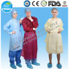 Vêtements médicaux non-tissés de chirurgien, robe chirurgicale d'hôpital, robe remplaçable d'isolement