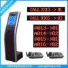 銀行業務のカウンターLED/LCDの表示トークン番号キューシステム