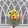 Décor extérieur et à la maison de bac de fleur s'arrêtant en métal
