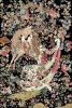 Coperta pittorica di seta annodata mano matrice 93cmx138cm della tappezzeria di arte