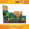 de 114mm Gegalvaniseerde Post Kleurrijke Drievoudige Apparatuur van de Speelplaats van de Kinderen van de Dia Openlucht