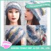 暖かい冬の帽子の女性の羽ヤーンのウールのニットの帽子