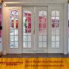Porte coulissante en verre Tempered en bois solide (GSP3-032)