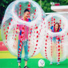 Balón de fútbol de parachoques inflable de Zorb del PUNTO rojo para el campo de fútbol
