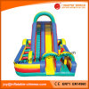' diapositiva inflable de múltiples funciones de la diversión 30 con el obstáculo y el túnel (T4-430)