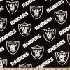 Negro/plata de los asaltantes entrenados para la lucha cuerpo a cuerpo de Oakland del paño de la tela de algodón de NFL