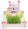 Nuevo modelo de la choza del amor del color de rosa del rompecabezas Jigsaw del diseño 3D