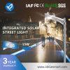 12W太陽電池パネルが付いている屋外の太陽LEDの街灯