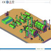 20ton Crude Oil Recycle Plant con Double Reactor
