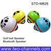 Azulverde amarillo blanco de la pelota de golf del altavoz de Bluetooth para las tablillas