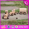 Heet Nieuw Product voor Stuk speelgoed van de Trein van het Spel van 2015 het Houten Jonge geitjes, het Goedkope Houten Stuk speelgoed van het Spel van de Kinderen van de Trein van het Stuk speelgoed, dat het Stuk speelgoed W05b086 trekt van het Spel van de Jonge geitjes van de Trein