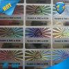 習慣のレーザーによって焼き付けられる白いホログラフィックステッカー