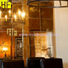 Verre feuilleté d'or - décor antique d'effet de souillure du miroir A011 en verre