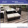 Cadeira de vime do pátio ao ar livre do Rattan do PE/jogo da tabela, mobília do jardim (J382-A)