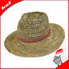 шлем Sun шлема Панамы шлема сторновки 100%Seagrass