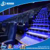 Sospecha de aluminio luminosa antirresbaladiza de la escalera de la decoración LED de la escalera del cine