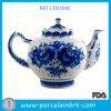 Teapot chinês azul e branco tradicional