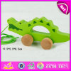 2015 Sale chaud Newest Pull String Toys pour Kids, Children Wooden Pull Line Toy, Cheap Cartoon Animal Pull Wire Walking Toy W05b082