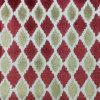 Telas geométricas del sofá de la pila del corte de los colores del cheque dos