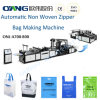 De volledige Automatische niet Geweven Zak die van de Ritssluiting Machine (aw-A800) maken