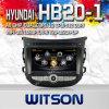 A8 Chipset S100 (W2-C239)를 가진 Hyundai HB20-1를 위한 차 DVD Player