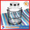 Frasco de vidro do armazenamento de Dispenser&Large da água/vinho/bebida/suco do espaço livre da capacidade elevada